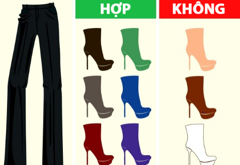 Quần màu đen rất kén màu giày.